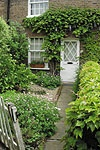 - A quaint front garden and path -